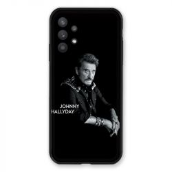 Coque Pour Samsung Galaxy A32 Johnny Hallyday Noir