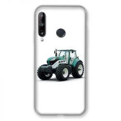 Coque Pour Huawei P40 Lite E Agriculture Tracteur Blanc