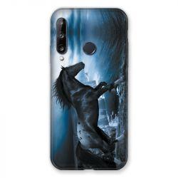Coque Pour Huawei P40 Lite E Cheval Noir