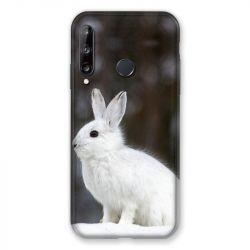 Coque Pour Huawei P40 Lite E Lapin Blanc