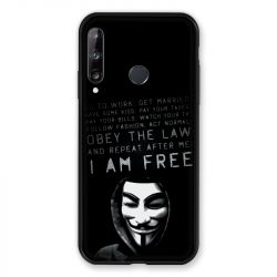Coque Pour Huawei P40 Lite E Anonymous I am free