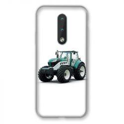 Coque Pour Nokia 2.4 Agriculture Tracteur Blanc