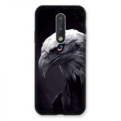 Coque Pour Nokia 2.4 Aigle Royal Noir