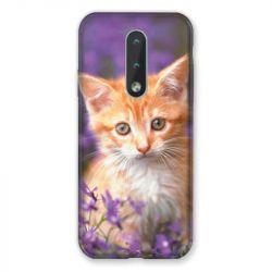 Coque Pour Nokia 2.4 Chat Violet