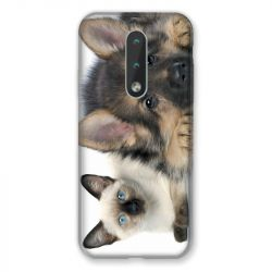 Coque Pour Nokia 2.4 Chien vs Chat