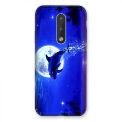 Coque Pour Nokia 2.4 Dauphin Lune