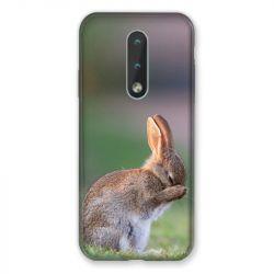 Coque Pour Nokia 2.4 Lapin Marron
