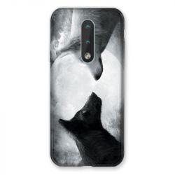 Coque Pour Nokia 2.4 Loup Duo