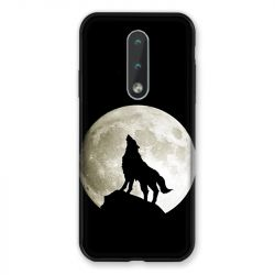 Coque Pour Nokia 2.4 Loup Noir