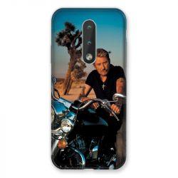 Coque Pour Nokia 2.4 Johnny Hallyday Moto