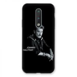 Coque Pour Nokia 2.4 Johnny Hallyday Noir