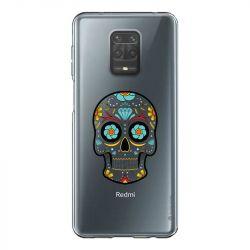 Coque Transparente Pour Xiaomi Redmi Note 9 Tete Mort Color