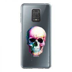 Coque Transparente Pour Xiaomi Redmi Note 9 Skull Head Crane Colore