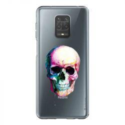 Coque Transparente Pour Xiaomi Redmi Note 9 Skull Head Crane Colore