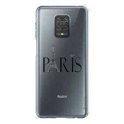 Coque Transparente Pour Xiaomi Redmi Note 9 Paris Noir