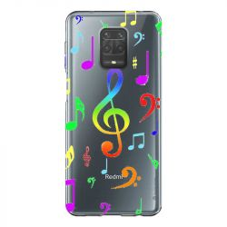 Coque Transparente Pour Xiaomi Redmi Note 9 Note Musique Colore