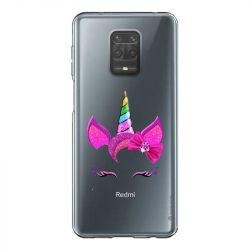 Coque Transparente Pour Xiaomi Redmi Note 9 Licorne Paillette