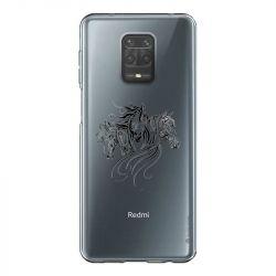Coque Transparente Pour Xiaomi Redmi Note 9 Chevaux Mandala