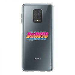 Coque Transparente Pour Xiaomi Redmi Note 9 Boruto Logo