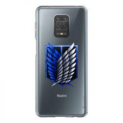Coque Transparente Pour Xiaomi Redmi Note 9 Attaque Titan Logo