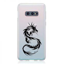Coque Transparente Pour Samsung Galaxy S10e Dragon Noir
