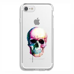 Coque Transparente Pour Iphone 6 / 6s Skull Head Crane Colore