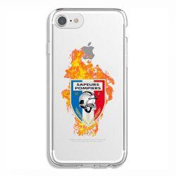 Coque Transparente Pour Iphone 6 / 6s Pompier Feu