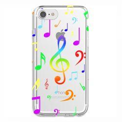Coque Transparente Pour Iphone 6 / 6s Note Musique Colore