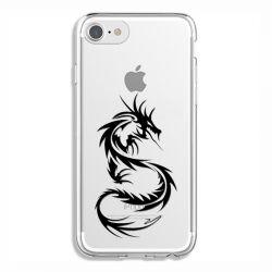 Coque Transparente Pour Iphone 6 / 6s Dragon Noir