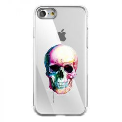 Coque Transparente Pour Iphone 7 / 8 / SE (2020) Skull Head Crane Colore