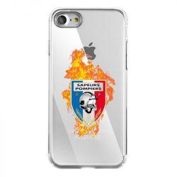 Coque Transparente Pour Iphone 7 / 8 / SE (2020) Pompier Feu