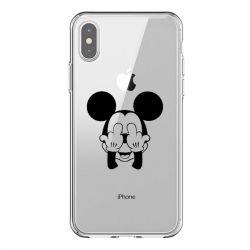 Coque Transparente Pour Iphone X / XS Mickey doigt