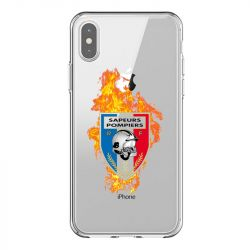 Coque Transparente Pour Iphone X / XS Pompier Feu
