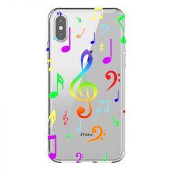 Coque Transparente Pour Iphone X / XS Note Musique Colore