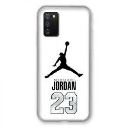 Coque Pour Samsung Galaxy A02S Jordan 23 Blanc