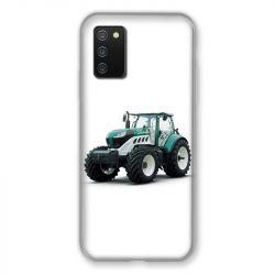 Coque Pour Samsung Galaxy A02S Agriculture Tracteur Blanc