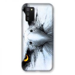 Coque Pour Samsung Galaxy A02S Aigle Royal Blanc