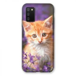 Coque Pour Samsung Galaxy A02S Chat Violet