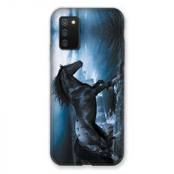 Coque Pour Samsung Galaxy A02S Cheval Noir