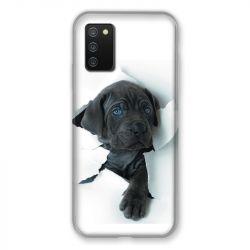 Coque Pour Samsung Galaxy A02S Chien Noir