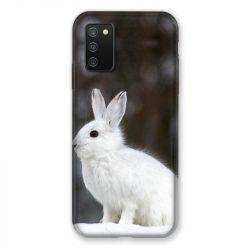 Coque Pour Samsung Galaxy A02S Lapin Blanc