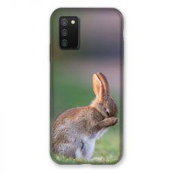 Coque Pour Samsung Galaxy A02S Lapin Marron