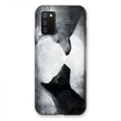 Coque Pour Samsung Galaxy A02S Loup Duo