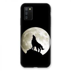 Coque Pour Samsung Galaxy A02S Loup Noir