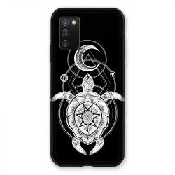 Coque Pour Samsung Galaxy A02S Animaux Maori Tortue Noir