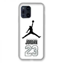 Coque Pour Oppo Find X3 Pro Jordan 23 Blanc