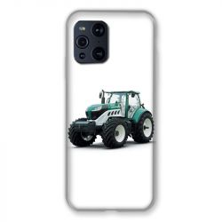 Coque Pour Oppo Find X3 Pro Agriculture Tracteur Blanc