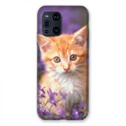 Coque Pour Oppo Find X3 Pro Chat Violet