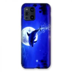Coque Pour Oppo Find X3 Pro Dauphin Lune