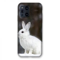 Coque Pour Oppo Find X3 Pro Lapin Blanc